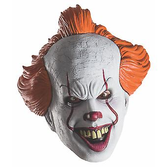 Pennywise IT The Movie Stephen King Horror Clown Halloween Men Costume 3/4 Mask