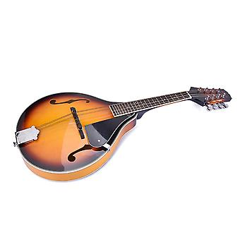 8 String Basswood Delicate Yellow Mandolin Instrument