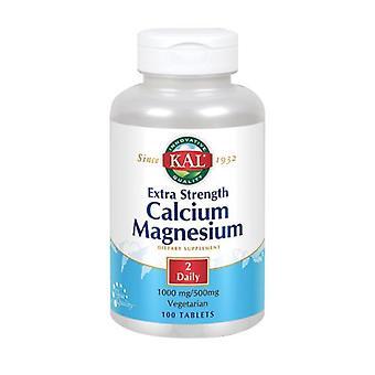Kal Kalsium magnesium lisävahvuus, 100 tabia