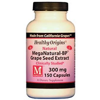 Extrato de sementes de uva MegaNatural-BP De Origem Saudável, 300 mgs, 150 caps