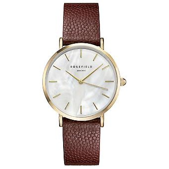 Rosefield upper east side watch for Women Analog Quartz with Cowhide Bracelet UWCCSG-U27