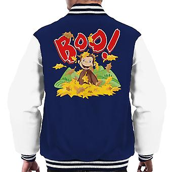 Neugierige George Boo In den Blättern Männer's Varsity Jacke