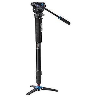 Benro alumiini 4 sarjan kierrelukko video monopod kit w/articulating base ja s4 video head (a48tds4)