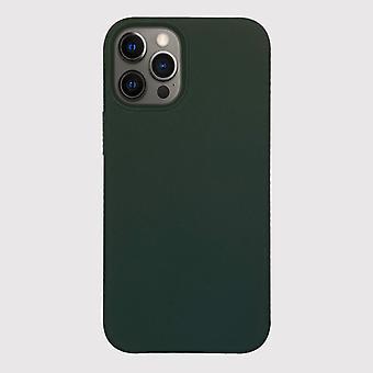 Зеленый силиконовый чехол для iphone 12 pro с магнитным кольцом для беспроводной зарядки magsafe