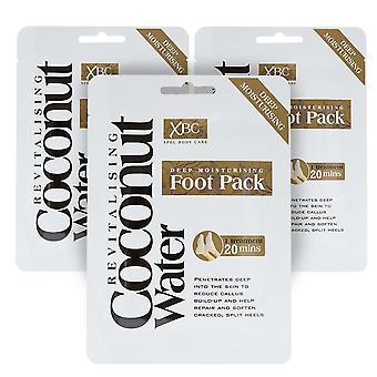 Diepe hydraterende voetbehandelingslaarzen, kokosnoot