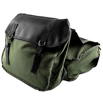 Motorcycle Saddle Bags Panniers For Honda Yamaha Suzuki Sportster (green)