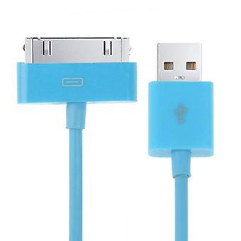 2m 30 פין כבל סינכרון נתונים, עבור iPhone 4 && 4S, אייפון 3GS / 3G, אייפד 3 / iPad 2 / iPad (כחול)