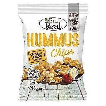 Mangez real chilli & lemon hummus chips 45g x12
