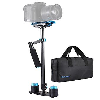 PULUZ 38.5-61cm Carbon Fibre Handheld Stabilizer for DSLR & DV Digital Video & Cameras, Load Range: 0.5-3kg(Blue)