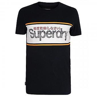 Superdry Core Logo Stripe T-Shirt Marine 98T