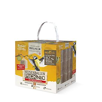 FRUNOL DELICIA® Delicia® Teisenballen Picknic with mealworms in the net, 48 pieces