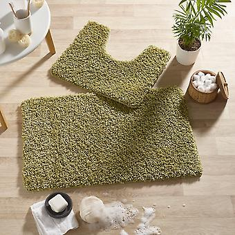 Buddy Bath Mat And Toilet Washableset In Green