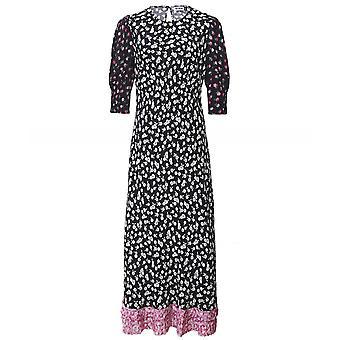 RIXO Short Sleeve Midi Jessie Dress