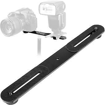 "Chromlives 1/4"" dual camera mount flash bracket extension bar 10.6"" straight flash bracket tripod mo"