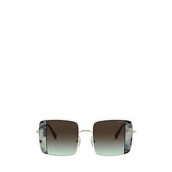 Miu Miu MU 56VS pale gold / havana light blue female sunglasses
