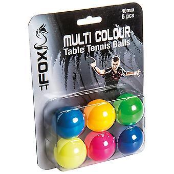Fox TT Multicoloured Table Tennis Balls Set (Pack Of 6)