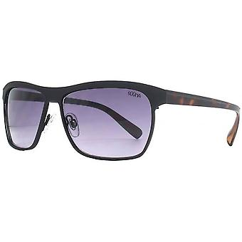 Suuna Flat Sheet Brow Detail Sunglasses - Matte Black