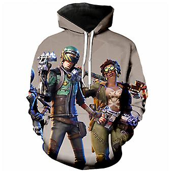 3d Casual Men And Women Anime Print Three-dimensional Hoodie