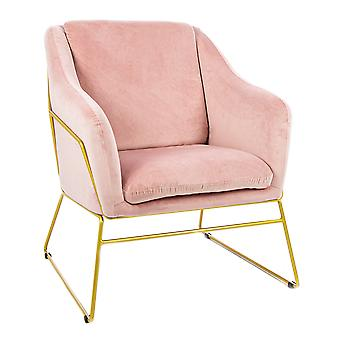 Charles Bentley Tilburg Velvet Occasion Chair Powder Pink Home Living Area Contemporary Statement Piece
