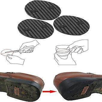 3 Çift Topuk Plakaları, Anti Slip Diy Kalınlaştır Kauçuk Dış Taban Topuk Yumuşak Onarım Pedi