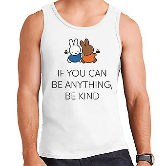 Miffy If You Can Be Anything Be Kind Men's Vest