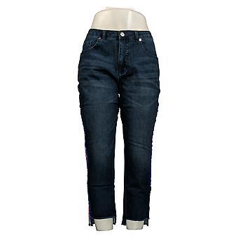 G.I.L.I. Women's Petite Jeans Dual Stretch Side Stripe Jeans Blue A354272