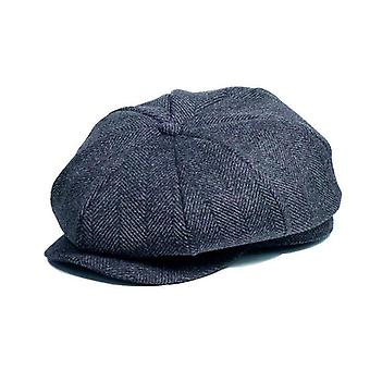 Winter Peaky Blinders Flat Wool Vintage Octagonal Hat