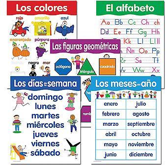 Paquete español de habilidades básicas de 5 cartas