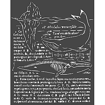 Stamperia Thick Stencil 20x25cm Whale