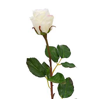 Botão artificial rose branch 52 cm branco