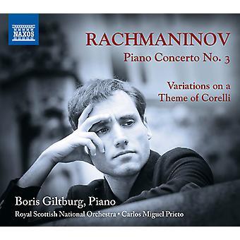 Rachmaninoff / Giltburg - Pianokonsert 3 / Variationer på temat Corelli [CD] USA import