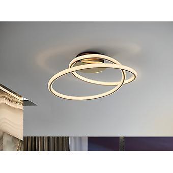 Schuller Tube - integrierte LED Semi Flush Deckenleuchte, Glitter Gold