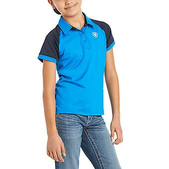 Ariat Team 3.0 Youth Short Sleeved Polo Shirt - Imperial Blue