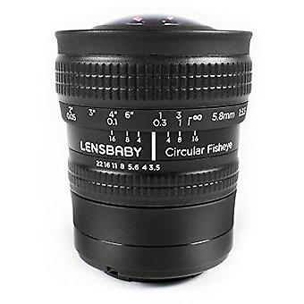 Lensbaby fisheye circulaire 5.8mm f/3.5 objectif pour samsung nx