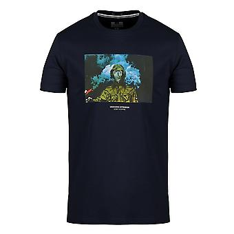 Weekend Offender 2103 Fusee Devito Jacket Graphic Print Half Sleeve T-shirt - Navy