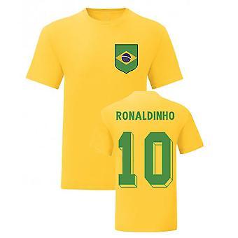 Ronaldinho Brasilian kansallissankari Tee\'s (keltainen)
