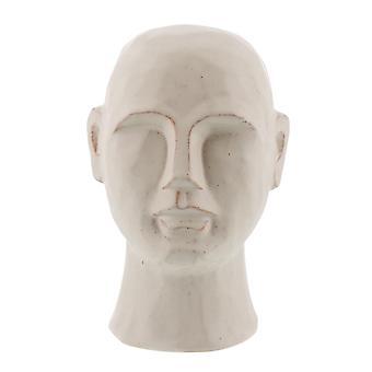 "8"" Matte White Ceramic Bust Decorative Sculpture"