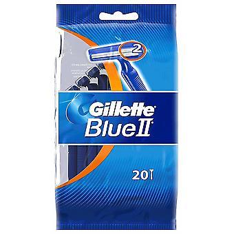 Gillette blå II disponibel maskiner 20 stk