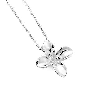 Sterling Silver Pendant Necklace - Origins 4 Petal Flower