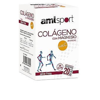 Amlsport Colágeno Con Magnesio + Vit.c Sabor Fresa 20 Sticks Unisex