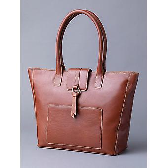 Birthwaite Leather Shopper vuonna Konjakki