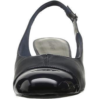 Trotters Womens Dea Leather Cap Toe SlingBack Classic Pumps