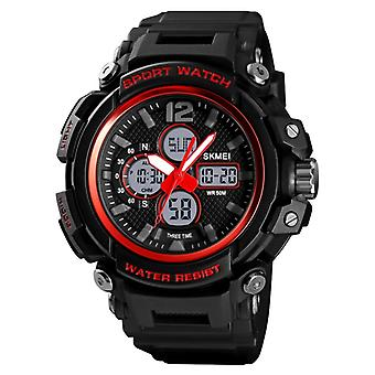 SKMEI 1498 Fashion Multifunctional Waterproof Student Electronic Watch Outdoor Sports Children's Watch Male(Red)