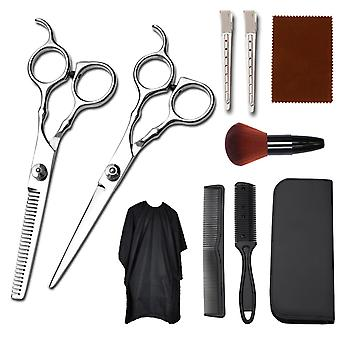 Haircut scissors straight snips thinning hairdressing barber tools lf2