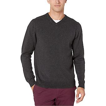 Essentials Men's V-Neck Pullover, Kohle Marled X-Large