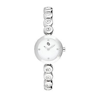 BEVERLEY Vit Keramik Klocka - HY8300C3BM1