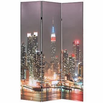 vidaXL غرفة مقسم قابل للطي 120 × 170 سم نيويورك في الليل