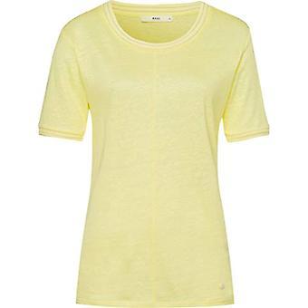 BRAX Style Cathy Linen T-Shirt, Yellow, 46 Woman