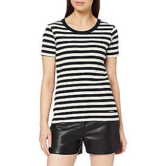 Armor Lux Hillion T-Shirt, Multicolor (Rich Navy/Nature Bi5), Large (One Size: 3) Women