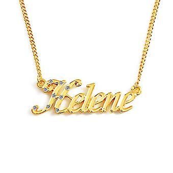 "L Helene - 18 قيراط قلادة مطلية بالذهب، سلسلة قابلة للتعديل من 16 ""- 19""، في التعبئة والتغليف ريجال"